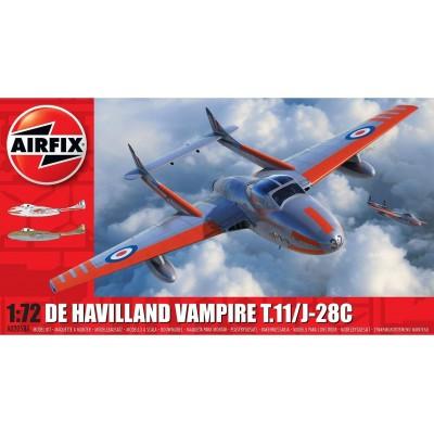 de HAVILLAND VAMPIRE T.11 / J-28C 1/72 - Airfix A02058A