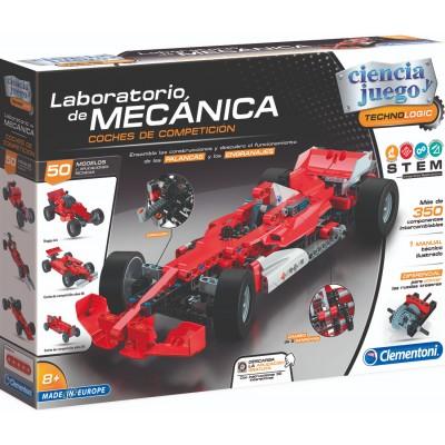 LABORATORIO DE MECANICA COCHES DE COMPETICION - 350 PIEZAS -CLEMENTONI 55215