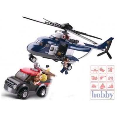 POLICE HELICOPTERO EN PERSECUCION - 285 PZS - SLUBAN B0656