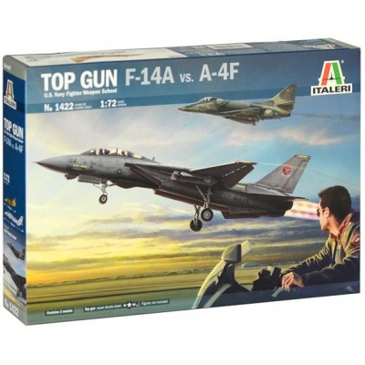 TOP GUN -Grumman F-14 A Tomcat & Douglas A-4 F Skyhawk- 1/72 - Italeri 1422
