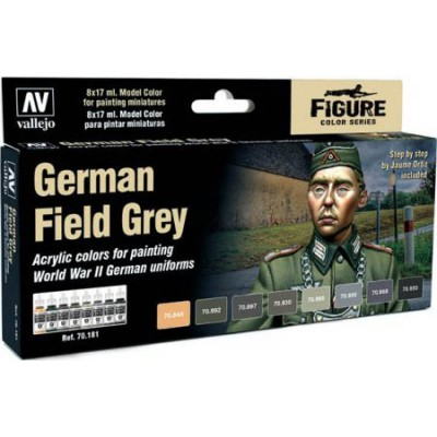 SET PINTURAS GERMAN FIELD GREY (8 COLORES)