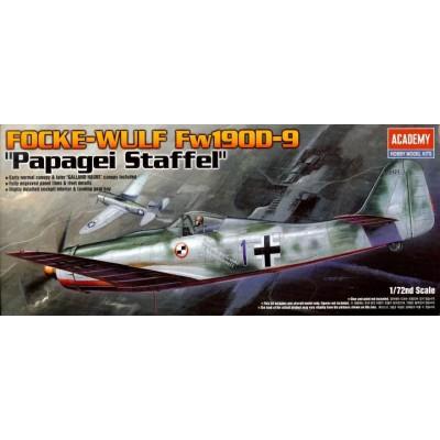 FOCKE WULF FW-190D-9 PAPAGEI STAFFEL ESCALA 1/72 - ACADEMY 12439
