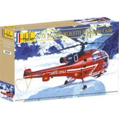 Sud AVIATION SA-316 ALOUETTE III Securite Civile 1/72 - Heller 80289