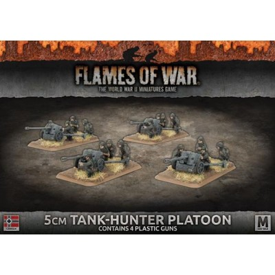PELOTON CAÑONES PAK-38 (50 mm) 4 unidades - Flames of War GBX115