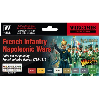 WARGAMES SET FRENCH INFANTRY NAPOLEONIC WARS - ACRILICOS VALLEJO 70164