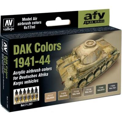 MODEL AIR SET: DAK COLORS 1941-1944 (6 BOTES 17ML) - ACRILICOS VALLEJO 71207