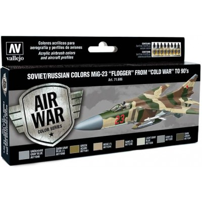 MODEL AIR SET: SOVIET-RUSSIAN AF MIG-23 FLOGGER COLORS (8 BOTES 17ML) - ACRILICOS VALLEJO 71606