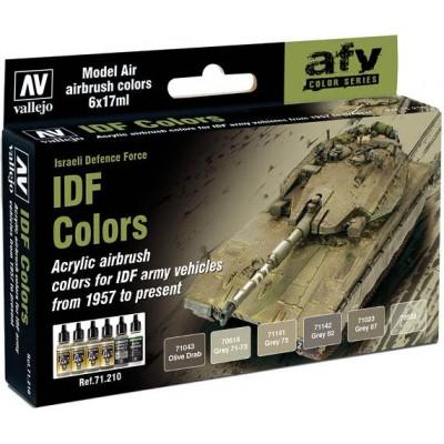 MODEL AIR SET: IDF COLORS (6 BOTES 17ML) - ACRILICOS VALLEJO 71210