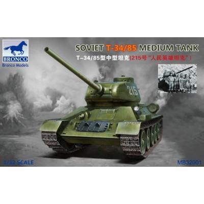 CARRO DE COMBATE T-34/85 -1/32- Bronco Model MB32001