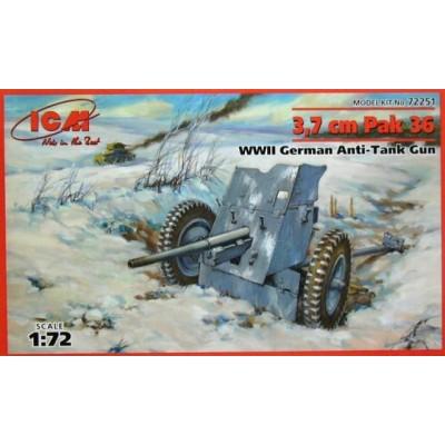 CAÑON ANTICARRO PAK-36 (37 mm) -1/72- ICM 72251