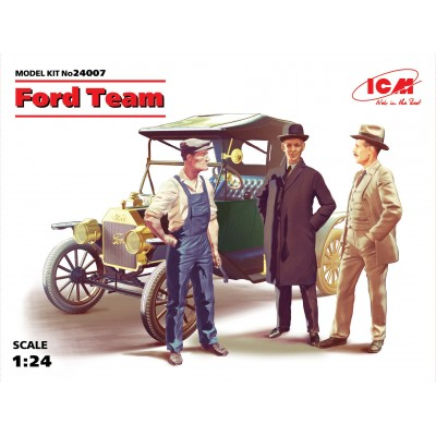 FORD Modelo T (1908) & Equipo 1/24 - ICM 24007