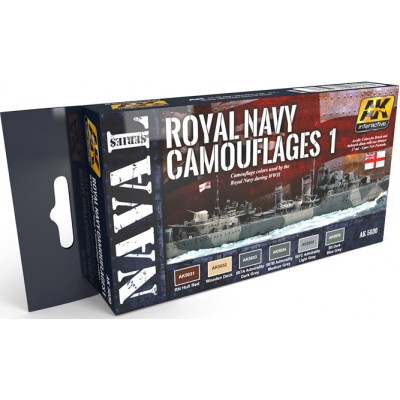 Set colores: ROYAL NAVY CAMUFLAGES 1 - AK Interactive 5030