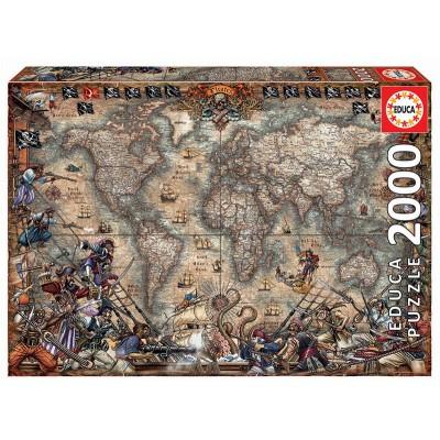 PUZZLE 2000 PZS MAPA PIRATA - EDUCA 18008
