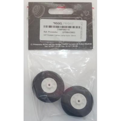 RUEDAS GOMA (38 mm) 2 unidades - HY006-03603