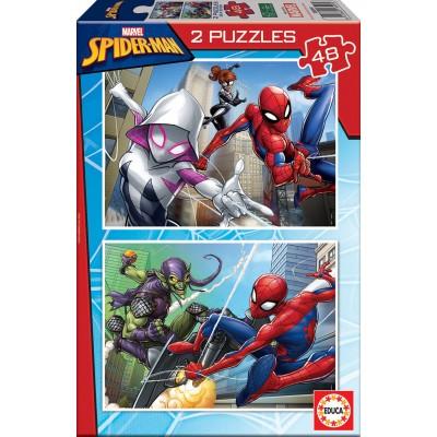 PUZZLE 2 x 48 Pzas SPIDERMAN - Educa 18099