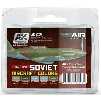Air Series: SOVIET AIRCRAFT COLORS (1937-1941) - AK Interactive AK2250