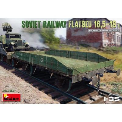 VAGON PLATAFORMA RUSO 16,5 - 18 ton. -1/35- MiniArt Model 35303