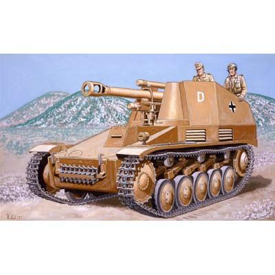 CAÑON AUTOPROPULSADO Sd.Kfz.124 WESPE -1/76- Revell 03215