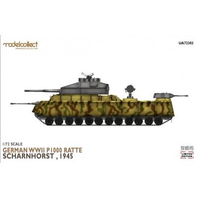 CARRO DE COMOBAR P.1000 RATTE. Scharnhorst, 1945 -1/72- Modelcollect UA72303