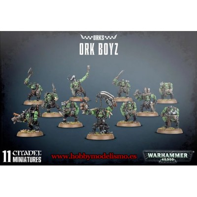 ESCUADRA CHICOZ ORKOS - ORK BOYZ - GAMES WORKSHOP 50-10