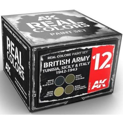 BRITISH ARMY Tunisia, Sicily & Italy 1943-1945 - AK Interactive RCS012