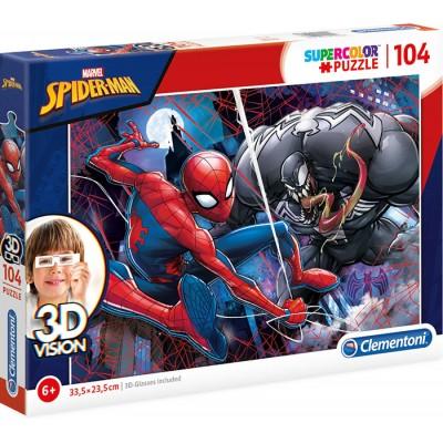PUZZLE 104 PZS SPIDERMAN 3D VISION - CLEMENTONI 20148