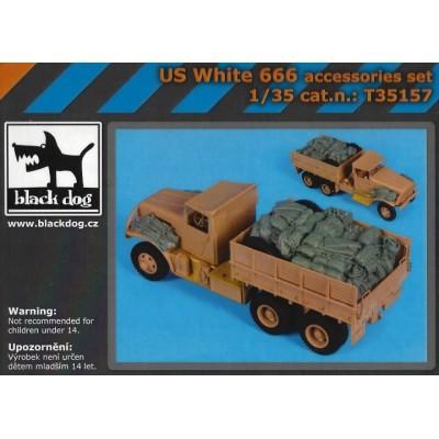 SET ACCESORIOS CAMION WHITE 666 -1/35- BLACK DOG T35157
