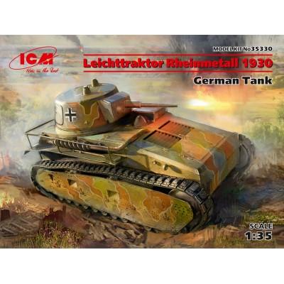 CARRO DE COMBATE LEICHTTRAKTOR (Vs.Kfz.31) Rheinmetall 1930 - escala 1/35- ICM 35330