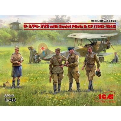 POLIKARPOV Po-2 / U-2 & TRIPULANTES -Escala 1/48- ICM 48254