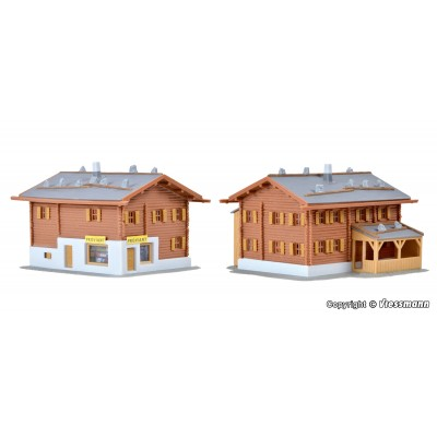 2 CASAS ALPINAS (9x6x5.5 mm - 9x8.5x5.5mm) ESCALA N - KIBRI 37030