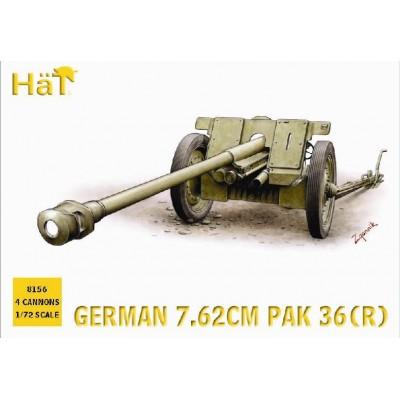 CAÑON PAK-36 (r) 76,20 mm (4 unidades) -1/72- Hat 8156