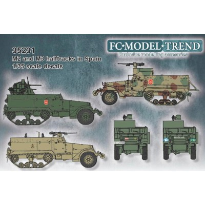SET CALCAS CAMION ORUGA BLINDADO M-2, M-3, Etc -1/35- FC Modeltips 35231