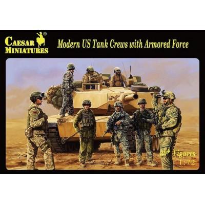 TRIPULANTES DE CARROS U.S. MODERNOS Y SOLDADOS -1/72- Caesar Miniatures H103