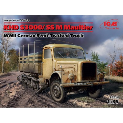 CAMION KHD S3000/SS M MAULTIER - ESCALA 1/35 - ICM 35453