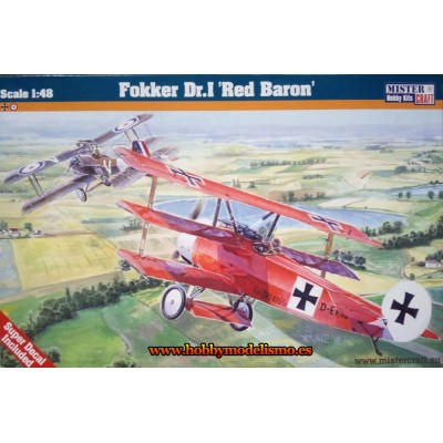 FOKKER DR.I RED BARON - ESCALA 1/48 - MISTER CRAFT 042301