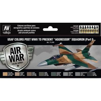 """AIR WAR: USAF ESCUADRONES """"AGGRESSOR"""" Parte 1 - Acrylicos Vallejo 71616"""