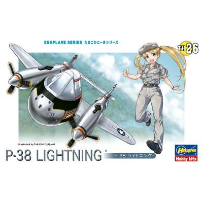 EGGPLANE P-38 LIGHTNING - HASEGAWA 60136