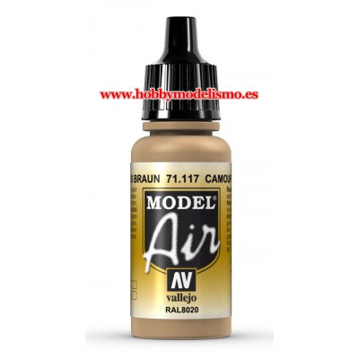 PINTURA ACRILICA CAMUFLAJE MARRON (17 ml) RAL8020