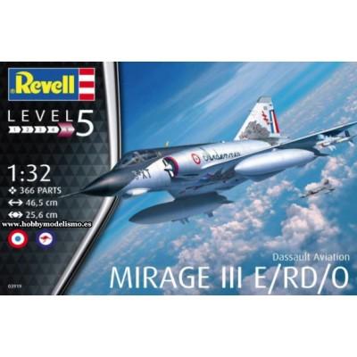 DASSAULT MIRAGE III E / RD / O -1/32- Italeri 03919