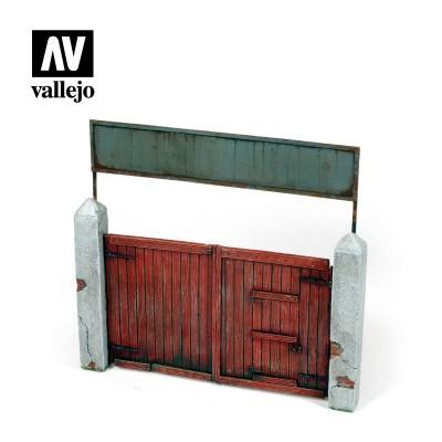 PORTON DE MADERA (150 x 150 mm) -1/35- Vallejo Scenics SC006