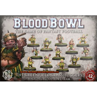 BLOOD BOWL THE GREENFIELD GRASSHUGGERS HALFLING TEAM - GAMES WORKSHOP 200-65