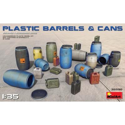 BARRILES Y BIDONES DE PLASTICO -Escala 1/35- MiniArt 35590