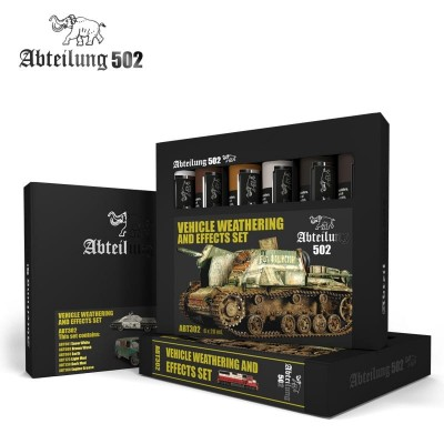 SET OLEOS VEHICLE WEATHERING AND EFFECTS (6 x 20 ml) - Abteilung 502 ABT302