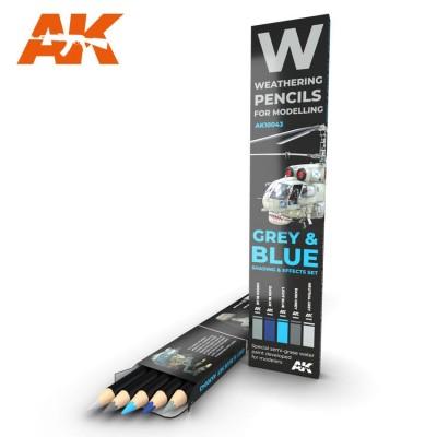 Watercolor pencil: GREY and BLUE - AK Interactive 10043