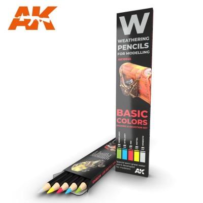 Watercolor pencil: BASIC COLORS - AK Interactive 10045