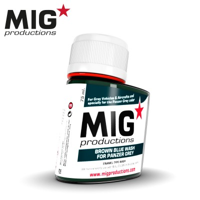 BROWN BLUE WASH for PANZER GREY (75 ml) - MIG Productions P285