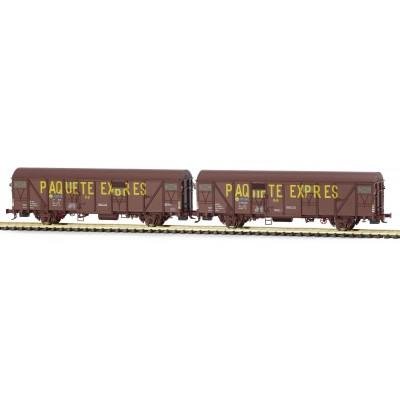 Set 2 vagones PAQUETE EXPRES Jfvcei 601643 / 601437. Ep. IV. MABAR 81829