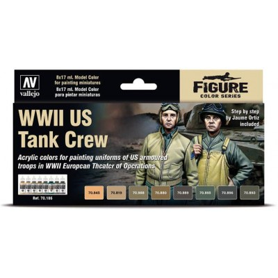 SET COLORES US TANK CREW -8 botes- Acrylicos Vallejo 70186
