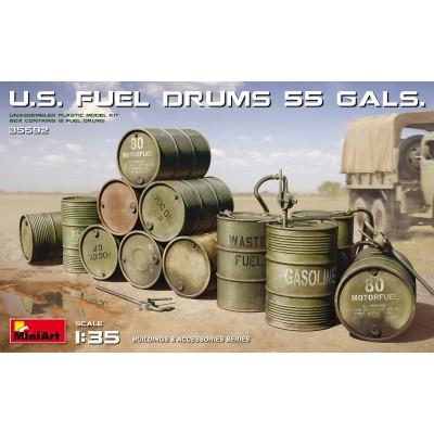 BIDONES DE COMBUSTIBLE U.S. (55 Galones) -1/35- MiniArt Model 35592