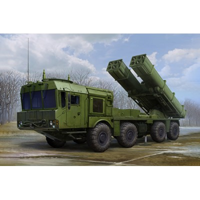 CAMION 9A53 Uragan-1M & SITERLA DE COHETES MLRS (Tornado-S)-1/35- TRUMPETER 01068